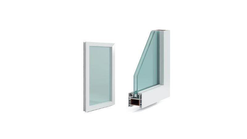 联塑固定窗