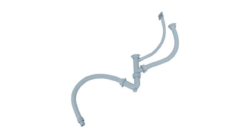 V型双盆去水管 WP80603