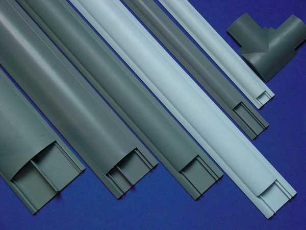 阻燃绝缘PVC圆弧形地板线槽