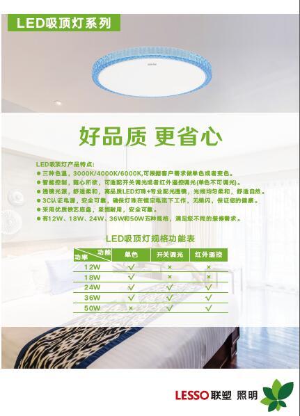 联塑照明-LED吸顶灯系列