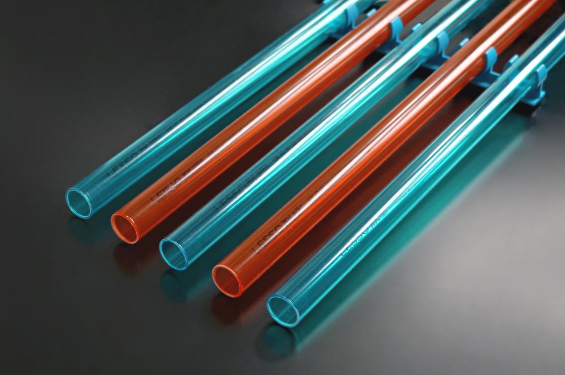 阻燃绝缘红蓝透明PVC电工套管