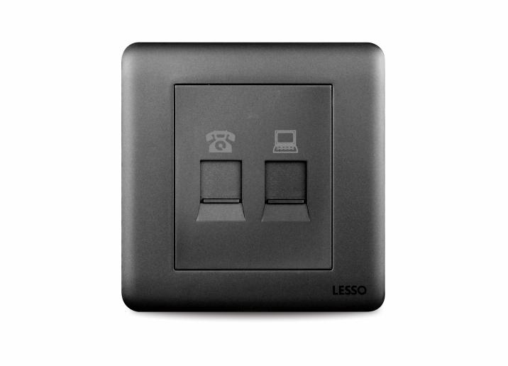 联塑Y3T01-N  电话信息插座